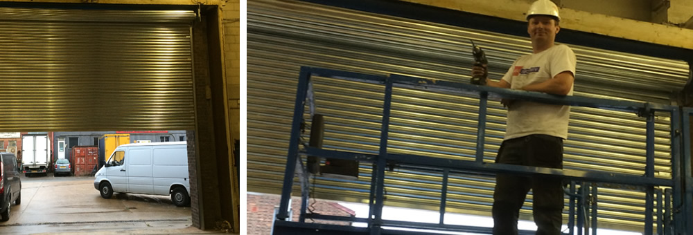 RSG 3-phase industrial shutter securing a commercial warehouse in Slough