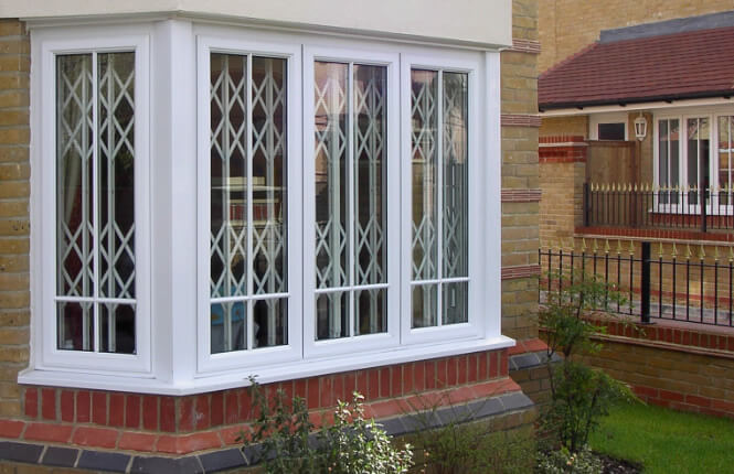 RSG1000 bay window security grilles on new home in South England.