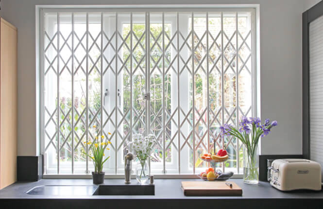 RSG1000 security window grille in kitchen in Chelsea.