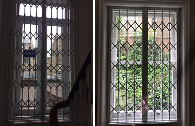 RSG1200 LPS1175 collapsible grilles fitted in Central London.
