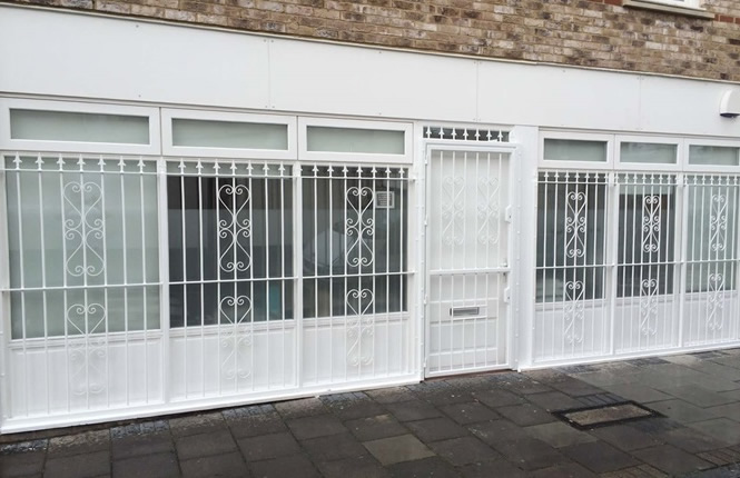RSG2000 window bars protecting commercial offices in Camberwell, London.