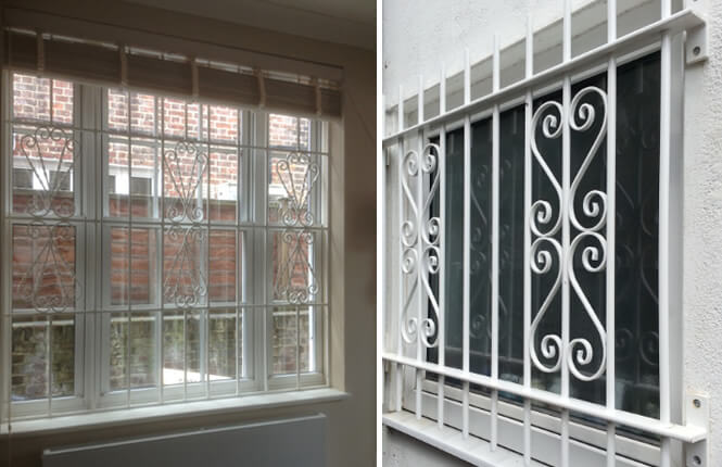 RSG2000 security window bars on residential properties in London.