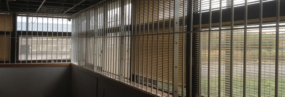 RSG2000 security window bars securing factory warehouse in London