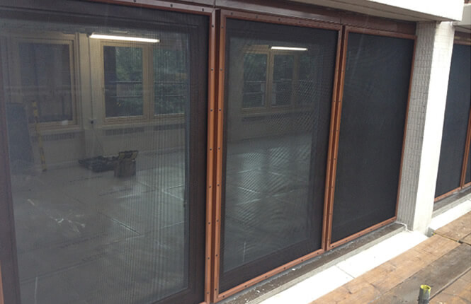 RSG2200 crime shields defending office side-access windows in Islington.