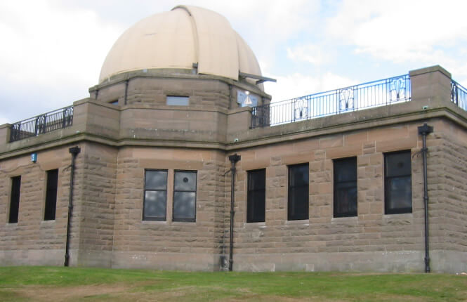 RSG2200 security shields at the rear of Mills Observatory in Scotland.