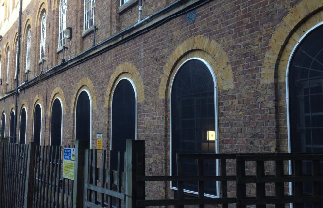 RSG2200 security shields protecting ground floor windows in Hackney, London.