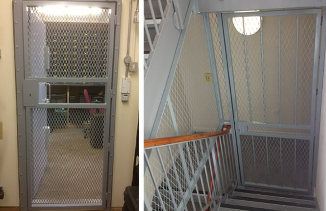 RSG3000 security mesh gates on industrial applications.