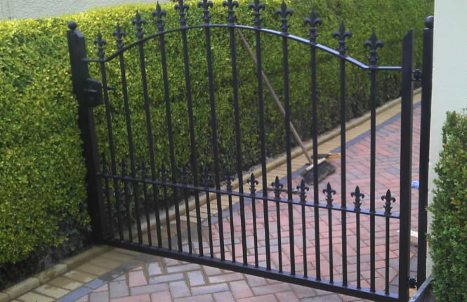 RSG3200 access gate in a residential passageway in Middlesex.