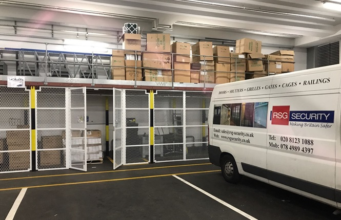 RSG4000 security enclosures fitted to a warehouse in Central London.