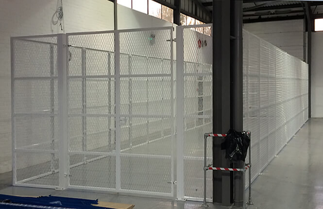 RSG4000 security enclosures on retail warehouse in Wimbledon.