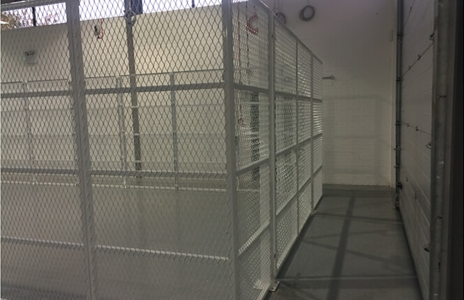 RSG4000 security cages and enclosures in a school gym in Kensington.