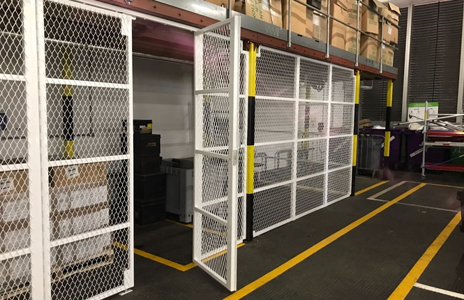 RSG4000 security enclosures installed in a warehouse in Central London.
