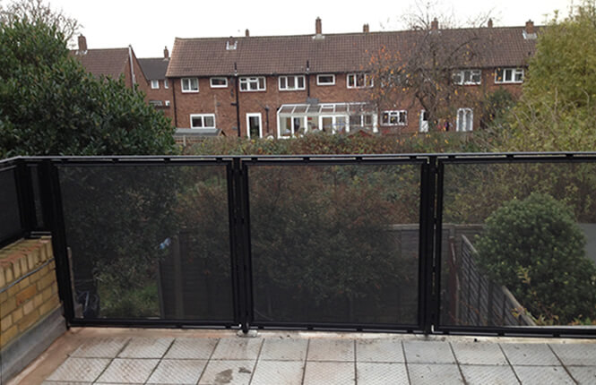 RSG4200 balustrades on balcony of residential property in central London.