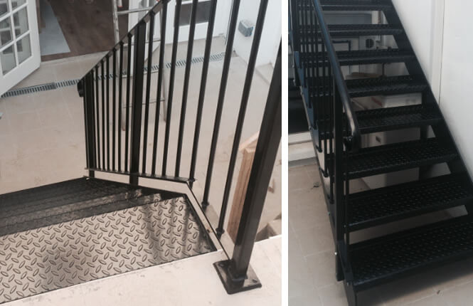 RSG4400 handrails and staircase on domestic property.