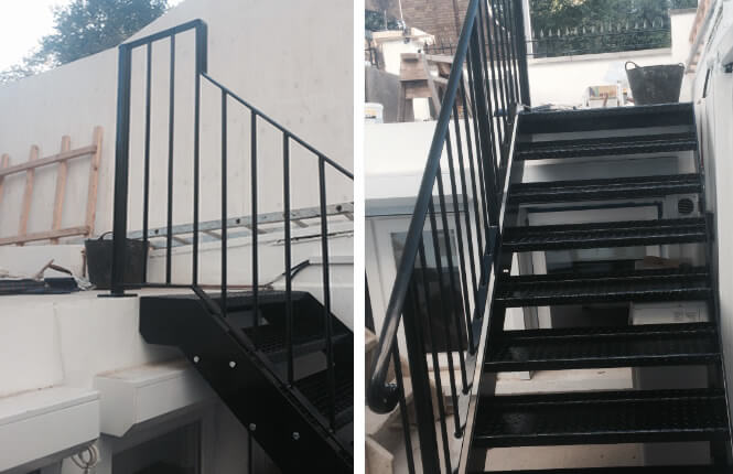 RSG4400 handrails and staircase of a residential property in Kensington.