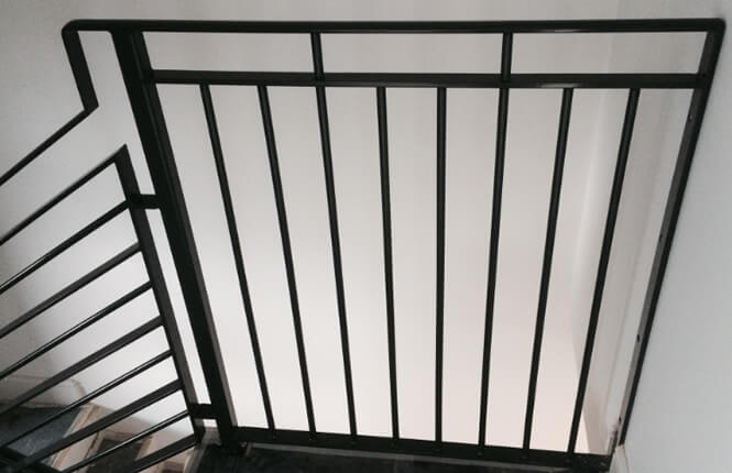 RSG4400 staircase railings on escape route.
