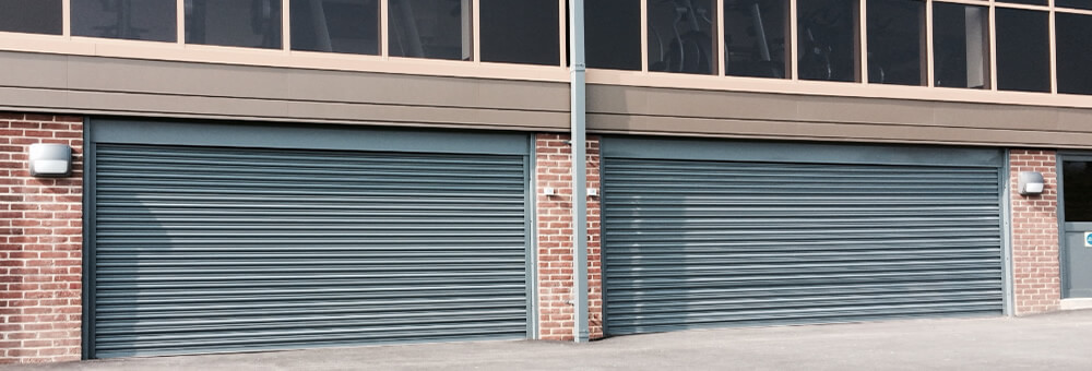RSG5000 galvanised roller shutters fitted on commercial outlets in Mitcham