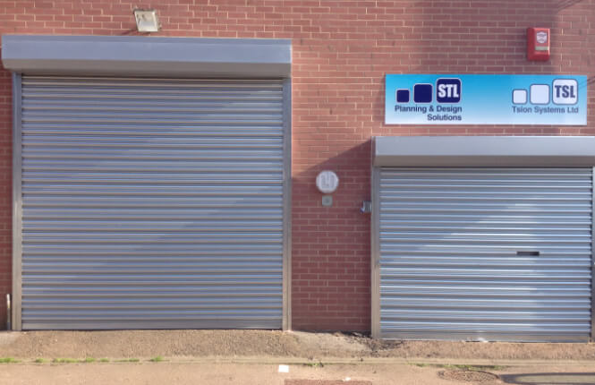 RSG5000 shop front security roller shutters in Hackney.
