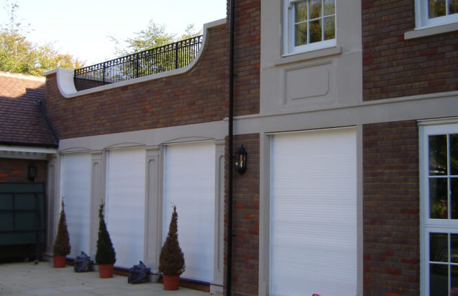 RSG5100 electrically operated roller shutters on residence in Croydon.