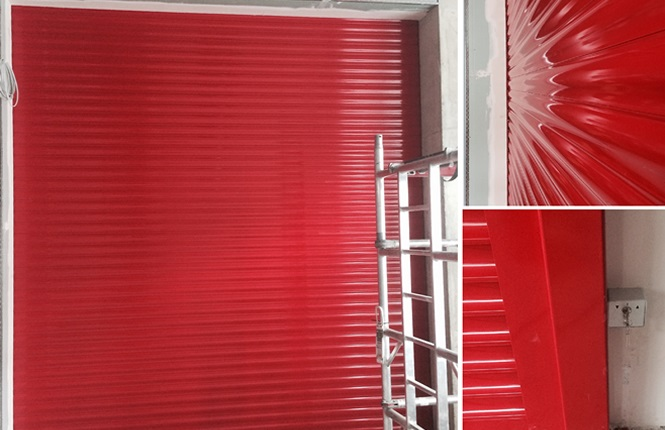 RSG5200 security shutter on a store room of a commercial complex in Walthamstow.
