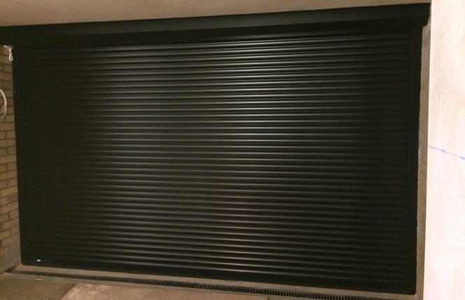 RSG5200 roller shutter securing refurb commercial unit in Chancellors Wharf just by River Thames.