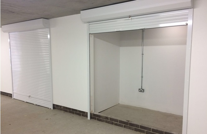 RSG5200 security shutters installed in a garage in Sunningdale, Berks.