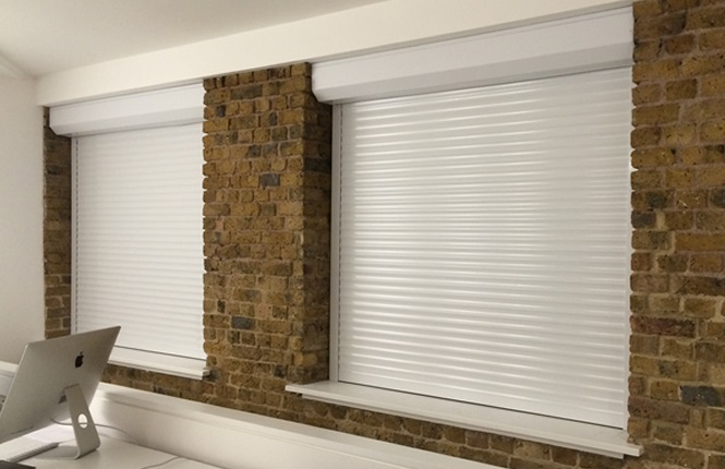 RSG5200 roller shutters providing security to some offices near London Bridge.