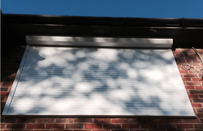 RSG5300 light weight shutter providing shading on a residence in North London.