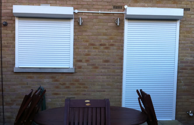 RSG5300 roller shutters providing insulation and shading on a house in Clapham, South London..