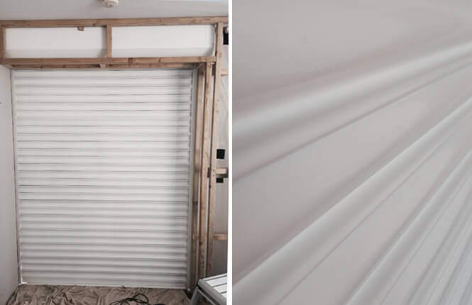 RSG5700 commercial security fire shutter fitted inside a sports centre in Essex.