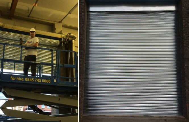 RSG6000 3-Phase roller shutter protecting an indutrial unit in Croydon.