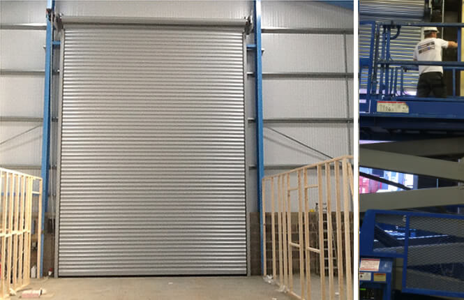 RSG6000 3-Phase industrial security shutter fitted on warehouse in Essex.
