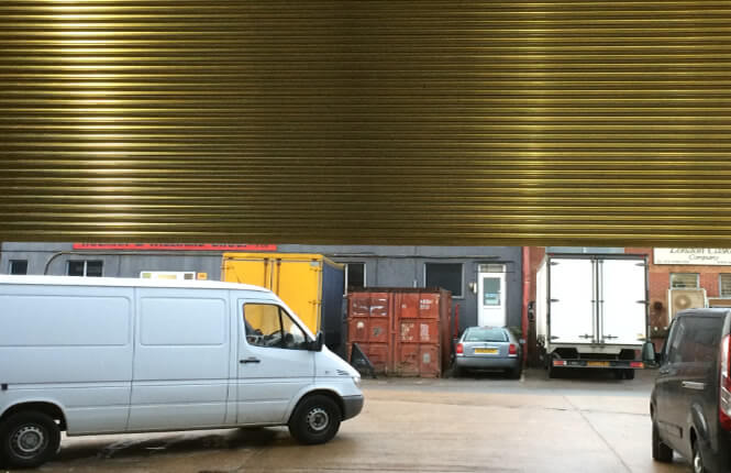RSG6000 3-Phase loading bay industrial shutter in Mitcham.