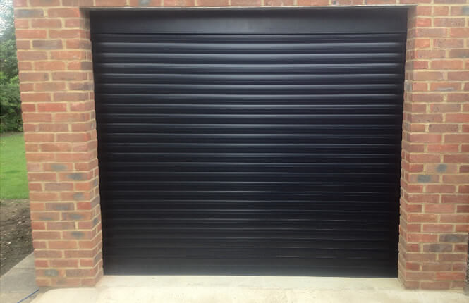 RSG7000 insulated roller shutter securing a garage door in South London.