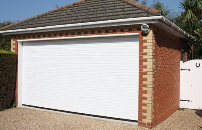 RSG7000 electric roller shutter protecting a residential garage in Merton.