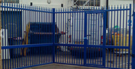 commercial security gates for shops, warehouses, car=parks & various applications