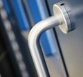 security hardware and glazing available with our high security doors