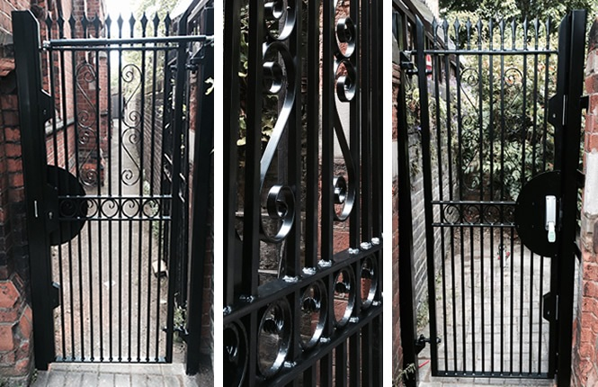 RSG3000 communal security gate on a church entrance in Clapham.