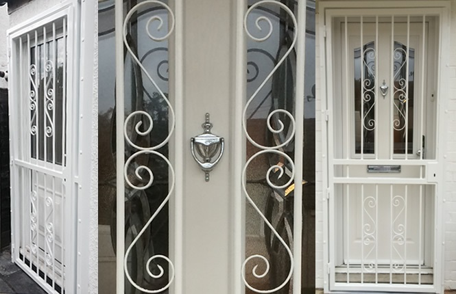 RSG3000 security door gates for residential homes in London.