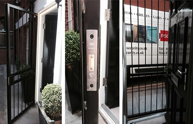 RSG3000 security door gate on residential appartment in Knightsbridge.