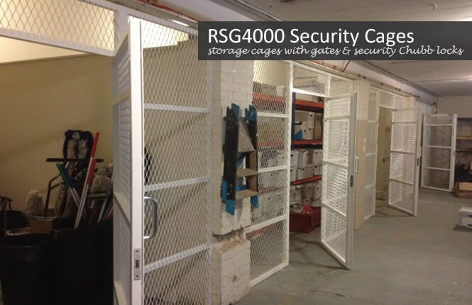 RSG4000 mesh security cages on industrial building in Morden.