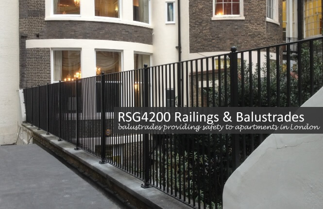 RSG4200 balustrades on apartment complex in the City.