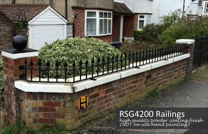 RSG4200 side railings on a domestic property in Surrey.
