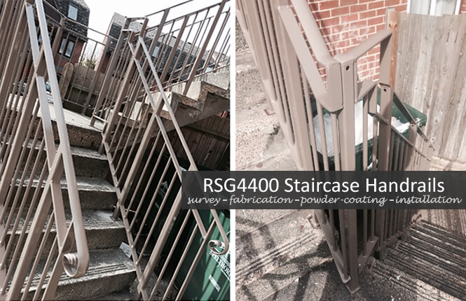 RSG4400 staircase railings on home in the city.