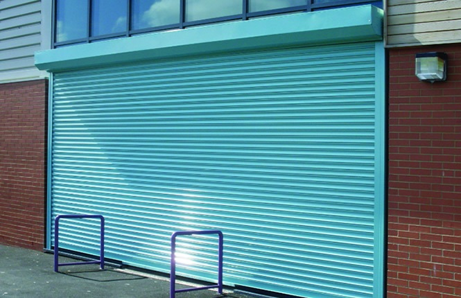 RSG5000 security roller shutter installed on office and workshop unit in Middlesex.
