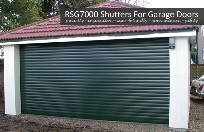 RSG7000 roller shutter securing a garage door in Wimbledon.