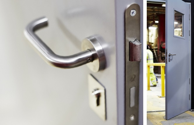 A close up of our sashlock showing the quality of RSG8000 Entry Doors hardware.