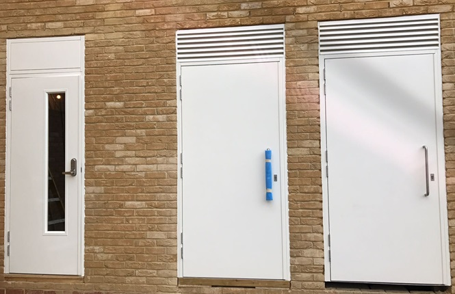 RSG8000 entry steel doors fitted to commercial offices in South West London.