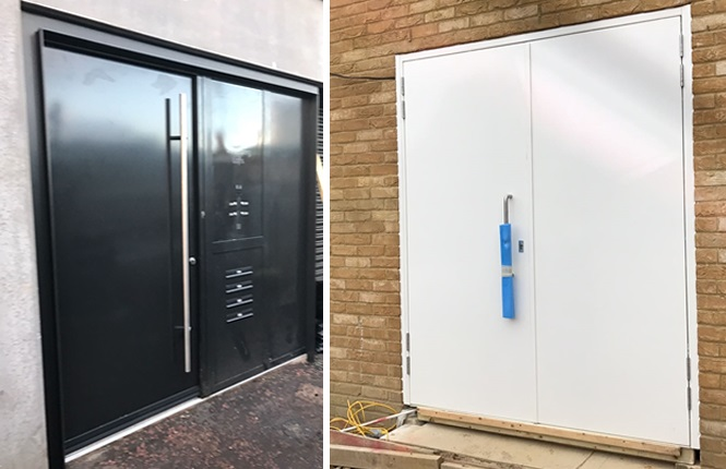 RSG8000 high security entrance doors guarding apartments communal entrance in Hackney.