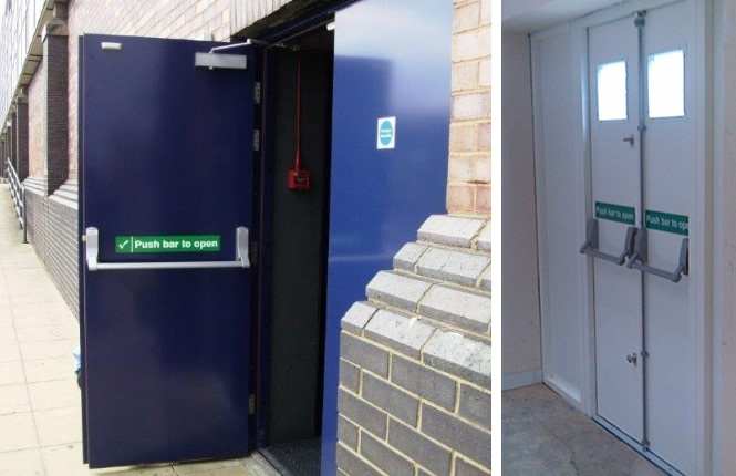 RSG8100 double fire exit doors providing escape solution to London businesses.